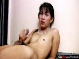 Filipino femboy strips down and masturbates hairy hotty rod
