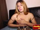 Thai transsexual shemale stretches a-hole open